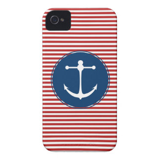Red Yacht Club Pattern iPhone 4 Case