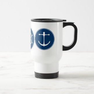 Red Yacht Club Pattern Travel Mug