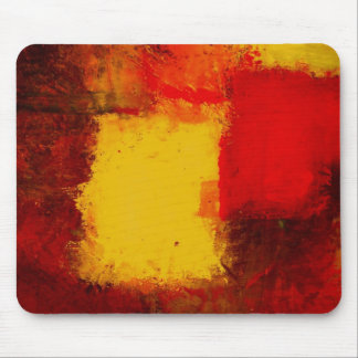 Red Yellow Abstract Mouse Pad