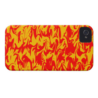 Red & Yellow Abstract Swirl iPhone 4 Cases