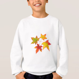 Red yellow and green autumn leaves sweatshirt
