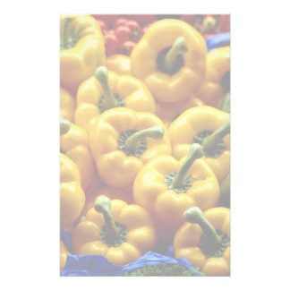 Red, yellow and green sweet peppers stationery paper
