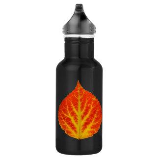 Red & Yellow Aspen Leaf #10 532 Ml Water Bottle