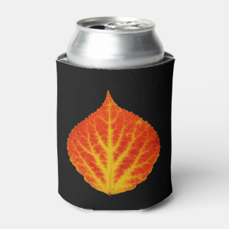 Red & Yellow Aspen Leaf #10 Can Cooler
