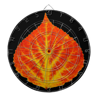 Red & Yellow Aspen Leaf #10 Dartboard