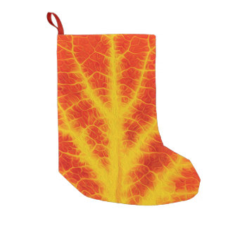 Red & Yellow Aspen Leaf #10 Small Christmas Stocking