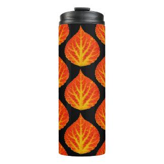 Red & Yellow Aspen Leaf #10 Thermal Tumbler