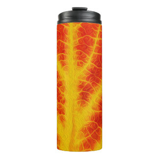 Red & Yellow Aspen Leaf #10 Thermal Tumbler
