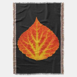 Red & Yellow Aspen Leaf #10 Throw Blanket