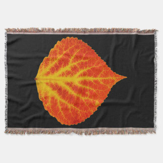 Red & Yellow Aspen Leaf #10 Throw Blanket
