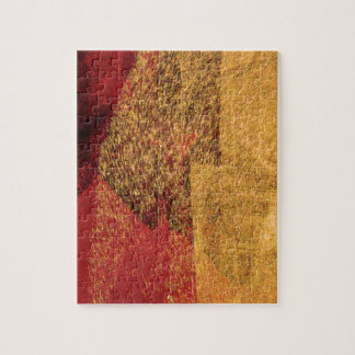 Red yellow black abstract paint brush art jigsaw puzzle