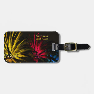 Red Yellow Black Tropical Palm Tree Template Luggage Tag