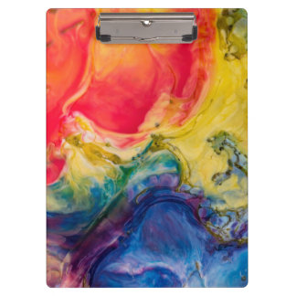 Red Yellow Blue Abstract Painting Clipboard