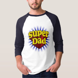 Red Yellow Blue Fresh Super Dad T-shirt