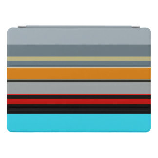 Red Yellow Blue Silver Multicolor Striped Pattern iPad Pro Cover