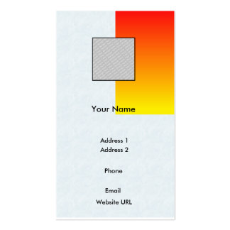 Red/Yellow-Business Pack Of Standard Business Cards
