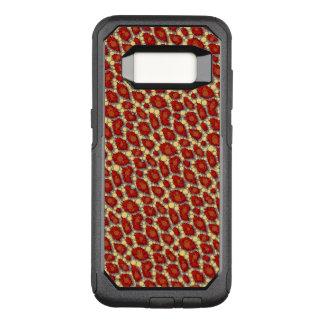 Red Yellow Cheetah Pattern OtterBox Commuter Samsung Galaxy S8 Case