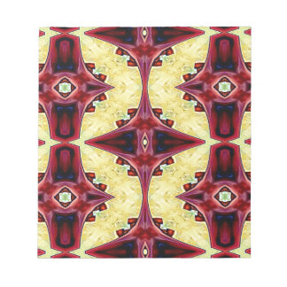 Red Yellow Cool Hip Geometric  Shapes Notepad