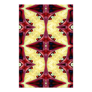 Red Yellow Cool Hip Geometric  Shapes Stationery