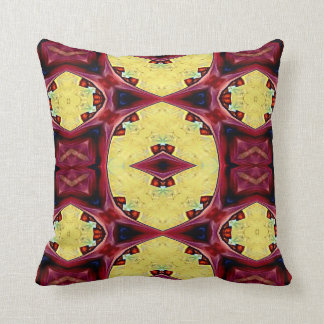 Red Yellow Cool Hip Shapes Cushion