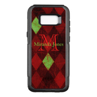 Red Yellow Diamond Pattern Paper Monogram OtterBox Commuter Samsung Galaxy S8+ Case