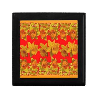 RED-YELLOW GARDEN DAFFODILS ART GIFT BOX