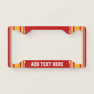 Red Yellow Gold Football Jersey Custom Name Number Licence Plate Frame
