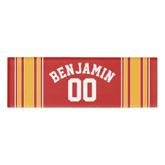 Red Yellow Gold Football Jersey Custom Name Number Name Tag