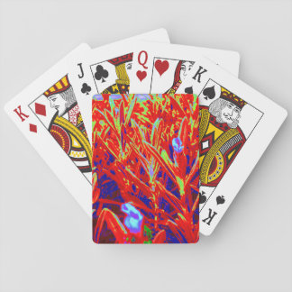 Red Yellow Gold Lavendar Garden Natural Photos Playing Cards