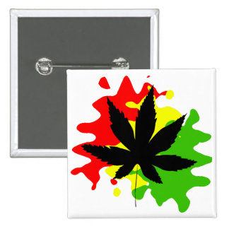 red yellow green behind a black weed 15 cm square badge