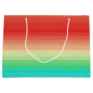 Red Yellow Green Blue Stripes Large Gift Bag