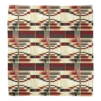 Red Yellow Green Brown Geometrical Pattern Bandana