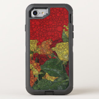 Red Yellow Green Floral Abstract OtterBox Defender iPhone 7 Case