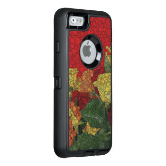 Red Yellow Green Floral Abstract OtterBox Defender iPhone Case