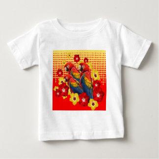RED-YELLOW HIBISCUS & MACAWS BABY T-Shirt