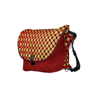 Red Yellow Mash-Up Shoulder Bag Commuter Bags