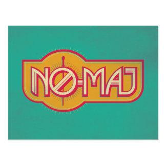 Red & Yellow No-Maj Badge Postcard