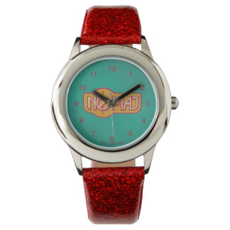 Red & Yellow No-Maj Badge Wrist Watch