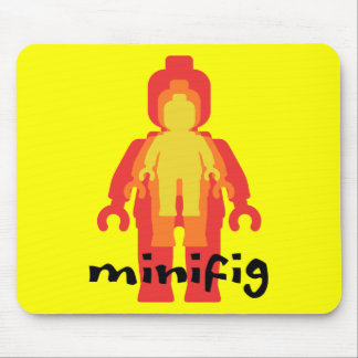 Red Yellow Orange Minifig by Customize My Minifig Mouse Pad