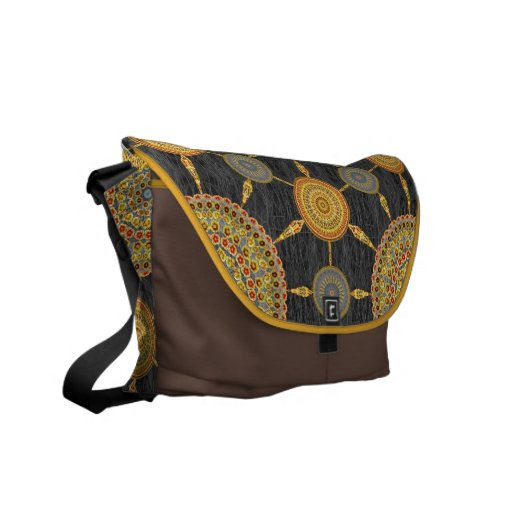 Red & Yellow Prickly Pear Mandala Array Bag Courier Bags