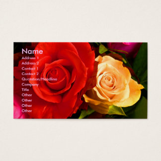 Red Yellow Rose Artist Business Card