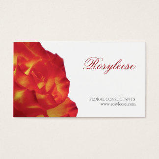 Red & Yellow Rose - Florist / Floral Consultant Business Card