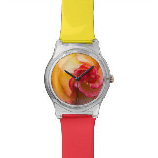 Red & yellow rose flower watches