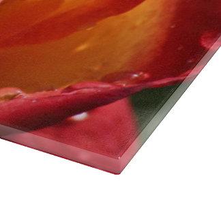 Red & Yellow Rose Lg Glass Cutting Board