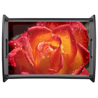 Red & Yellow Rose Lg Serving Tray