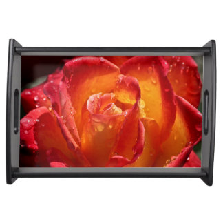 Red & Yellow Rose Small Serving Tray