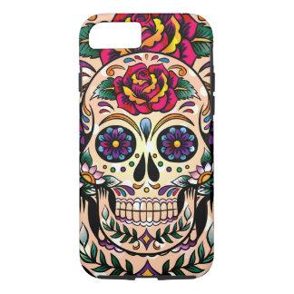 Red & Yellow Rose Sugar Skull iPhone 7 Case