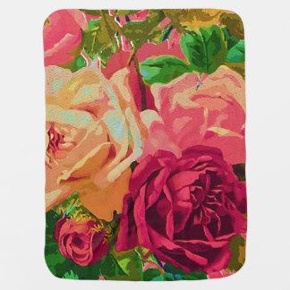 Red & Yellow Roses Pramblanket