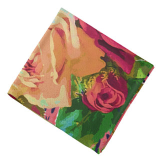 Red & Yellow Roses Head Kerchief