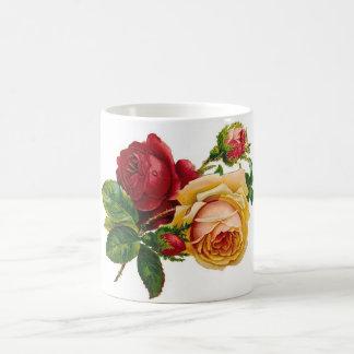 Red & Yellow Roses Basic White Mug
